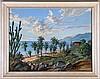 G. Gomez R. (20th Century) Tropical Coastal Scene, Oil on canvas laid on board,