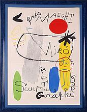 After Joan Miro (1893-1983) Galerie Maeght-Sculpture, Art, Graphics, Lithograph,