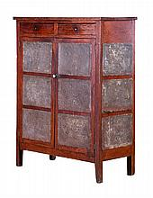 An American Oak Pie Safe, 19th/20th Century.