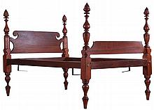 An American Maple 3/4 Bed, 19th Century.