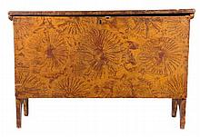 An American Painted Pine Blanket Chest, 19th Century.