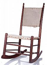 A Diminutive Shaker Walnut Rocking Chair, 19th/20th Century.