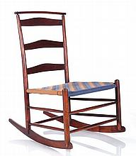 A Shaker Maple #4 Rocking Chair with Shawl Bar, 20th Century.