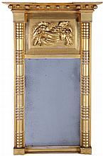 An American Gilt and Carved Wood Mirror, 19th Century.