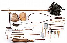 A Miscellaneous Collection of Shaker Turned Maple and Walnut Weaving and Cleaning Tools, 19th Century,