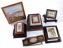 A Miscellaneous Collection of American 19th and 20th Century Frames and Decorative Items.