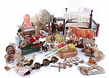 A Miscellaneous Collection of American Vintage Dolls, Doll Furniture, and Toys, 19th/20th Century.