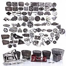 A Miscellaneous Collection of American Tin Cookie Cutters, Molds and Decorative Items, 19th/20th Century.
