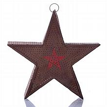 An American Punch Decorated Tin Christmas Tree Star, 19th/20th Century.