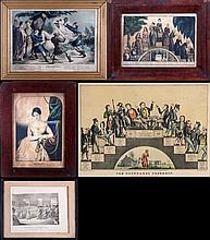 A Miscellaneous Collection of Currier and Ives Lithographs, 19th Century,