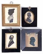A Group of Four Silhouettes, 19th Century.