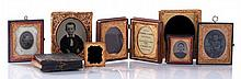 A Group of Five Tin Type Photographs, 19th Century,