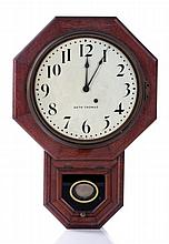A Seth Thomas Oak Regulator Clock, 20th Century.