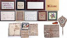A Miscellaneous Collection of Needlework Samplers and Embroideries, 19th/20th Century.