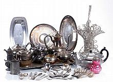 A Miscellaneous Collection of Silver Plated Serving and Decorative Items, 20th Century.