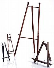 A Group of Four Collapsible Picture Stand, 20th Century.