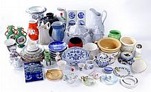 A Miscellaneous Collection of Continental Porcelain Decorative and Serving Items, 19th/20th Century,