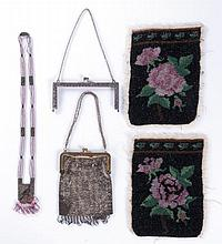 A Miscellaneous Collection of Victorian Bead Work Bags, 19th Century.