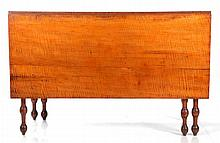 An American Tiger Maple Drop Leaf Table, 19th Century,