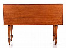 An American Tiger Maple Drop Leaf Table, 19th Century.