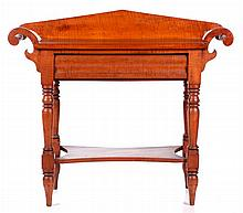 An American Tiger Maple Washstand, 19th Century.