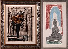 Bernard Buffet (1928-1999) Still Life Depicting Flowers, Lithograph,