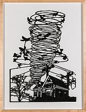 Julie Friedman (b. 1957) Transition, 2012, Cut Tyvek on museum board,