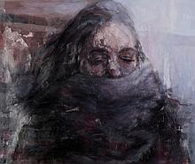 Michelle Doll (b. 1969) Stole, 2011, Oil on mylar, plexiglass,