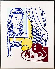 Roy Lichtenstein (1923-1997) Still Life with Portrait, 1974, (from Six Still Life Series), Serigraph in color,