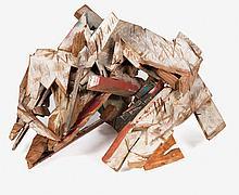 Ginna Brand (b. 1929) Elemental #12, Wood assemblage,