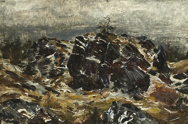 Andrew Winter (1892-1958) The Crow's Nest, Oil on canvas,