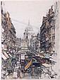 Luigi Kasimir (1881-1962) London Fleet Street, Etching,