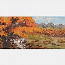 Artist Unknown (20th Century) Landscape, Oil on canvas,