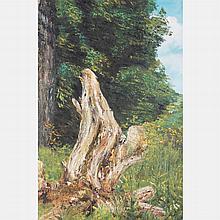 Chen Mao (1942-2011) Forest Scene, Oil on canvas,