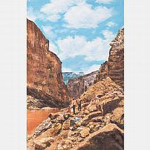 Chen Mao (1942-2011) Grand Canyon, Oil on canvas,