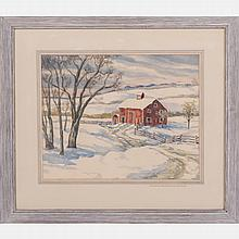Clyde E. Horton (20th Century) Hale Farm, Watercolor on paper,