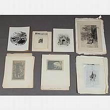 A Large Portfolio of Etchings, Lithographs and Mezzotints After Various Artists, 19th/20th Century,