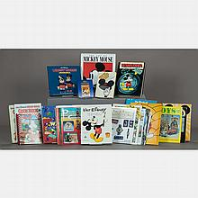 A Collection of Twenty-Six Disney Related Books, Calendars, Catalogs, Magazines and Folder, 20th Century,
