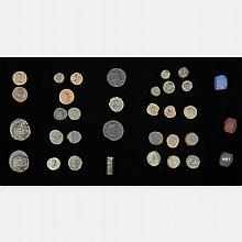A Miscellaneous Collection of Thirty Ancient Roman, Greek and Middle Eastern Coins,