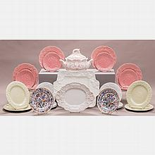 A Miscellaneous Collection of Porcelain Serving Items by Various Makers, 20th Century,