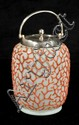 A Coralene Glass and Silver Plated Biscuit Jar, 19th Century.
