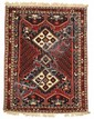 A Shiraz Wool Rug, 20th Century.