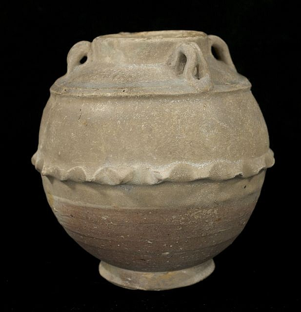 A Chinese Han Dynasty Style Earthenware Jar.