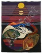 Helen Webber (20th Century) San Francisco, 1979, Wool tapestry,