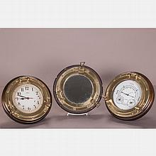 A Group of Three Nautical Decorative Items, 20th Century,