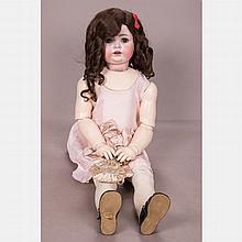 An Antique Johann Daniel Kestner (JDK) Bisque Doll, Germany, 19th/20th Century,