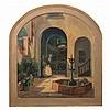 Alberta Kinsey (1875-1952) Courtyard Scene, Oil on canvas,, Alberta Kinsey, $400