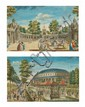 A Pair of French Hand-Colored Engravings, 18th Century,