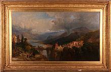James Vivien de Fleury (British, active 1847 - 1868) Valley d'Assola Piedmont, Oil on canvas,