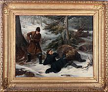 François-Auguste Biard (1798-1882) The Bear Hunters, Oil on canvas,